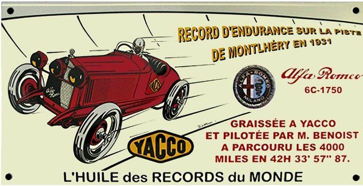plaque-emaillee-yacco-alfa-romeo-6c-1750